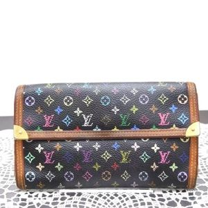 Auth Louis Vuitton Multicolor Long Wallet